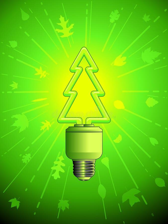 Download Green energy lightbulb stock vector. Image of tree, lightbulb - 18875487