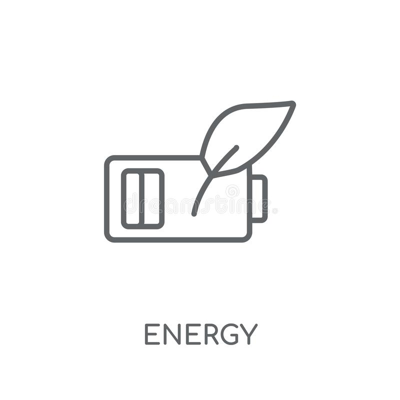 Green energy linear icon. Modern outline Green energy logo conce. Pt on white background from Ecology collection. Suitable for use on web apps, mobile apps and royalty free illustration
