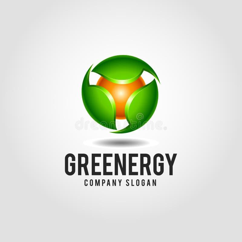 Green Energy - Nature Energy Logo Template stock illustration