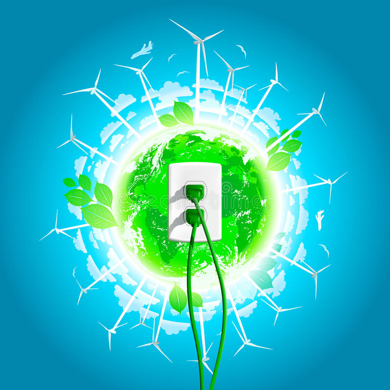 Free Green Energy Plug Concept Stock Photography - 24017242