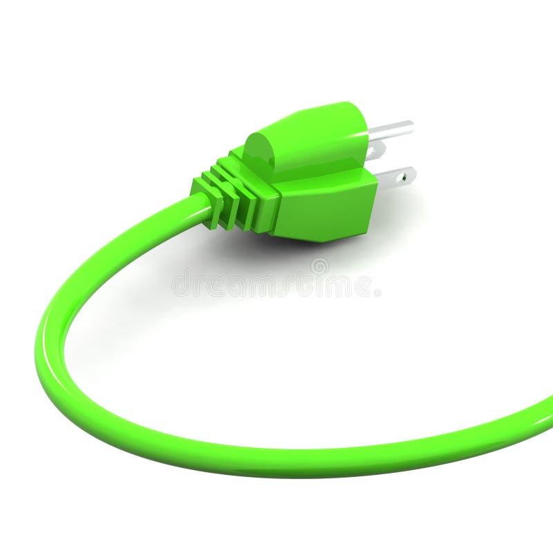 Green Energy Plug - USA Royalty Free Stock Photos