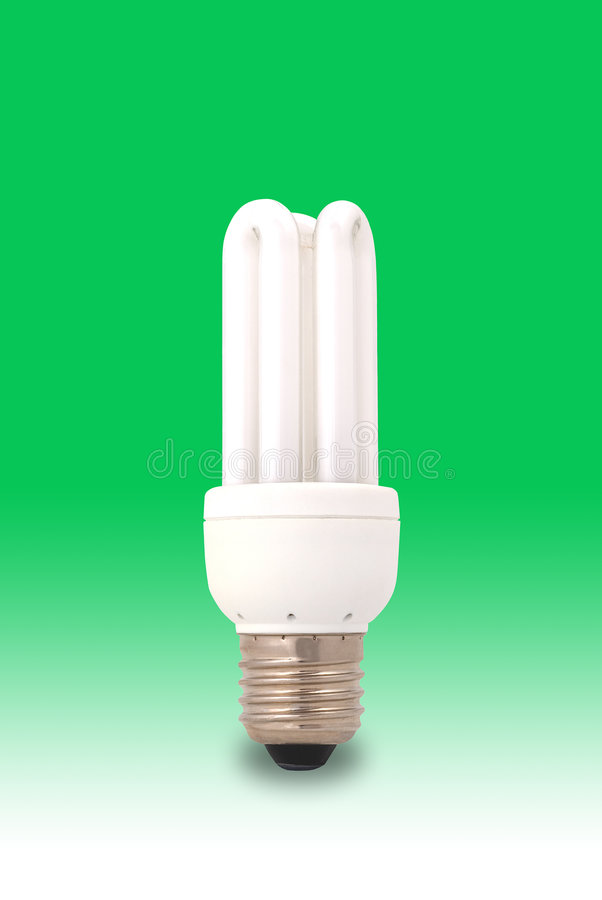 Green Energy Saving Light Bulb stock image