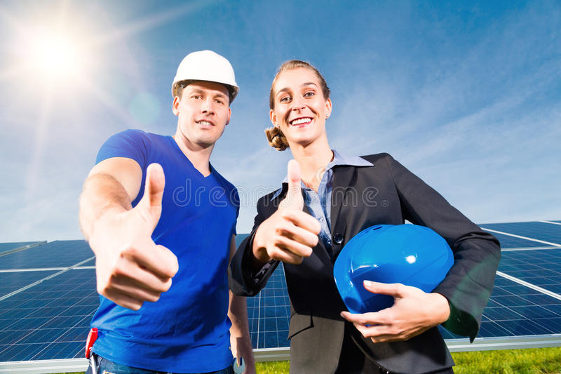 Download Green Energy - Solar Panels With Blue Sky Stock Image - Image: 29524809