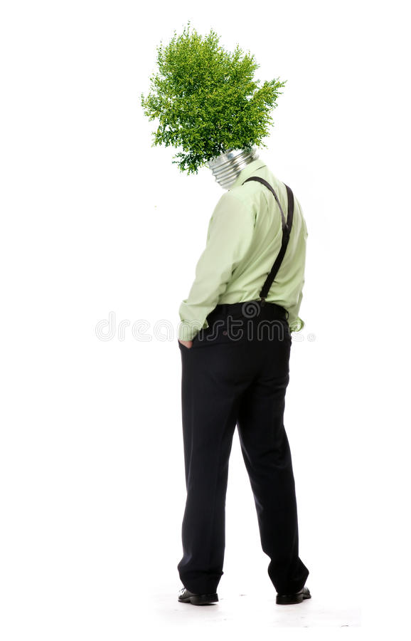Green energy symbol royalty free stock images