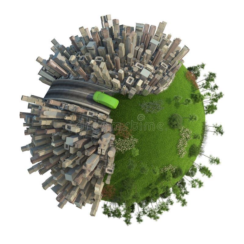 Green energy transport concept vector illustration