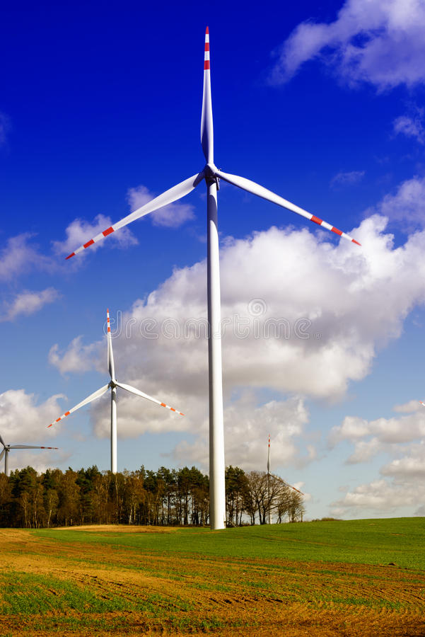 Green energy - wind turbine royalty free stock images