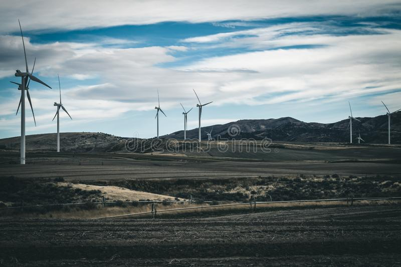 Green Energy From Wind Turbines stock photography
