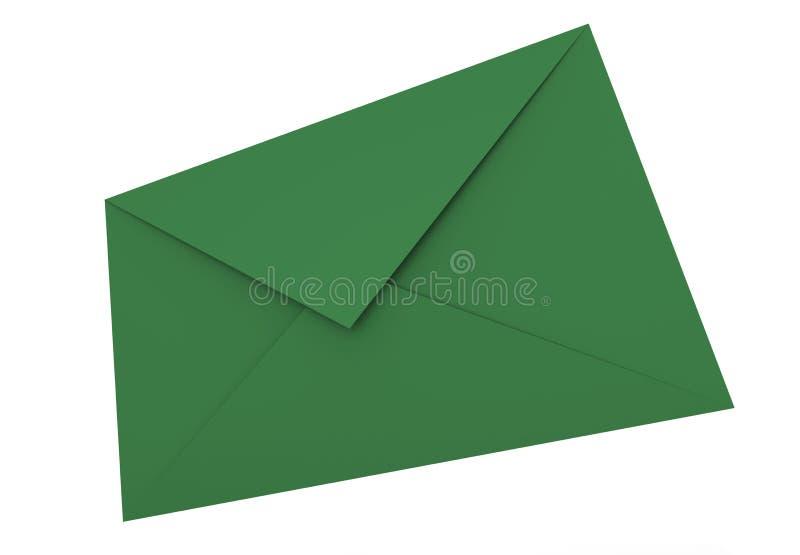 Green Envelope royalty free illustration
