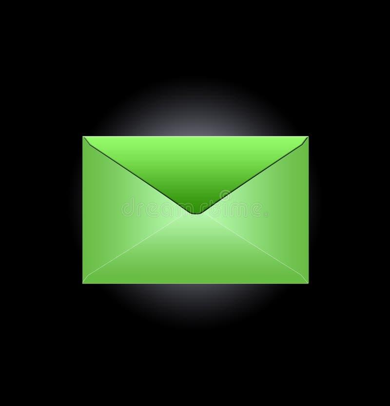 Green envelope stock photos