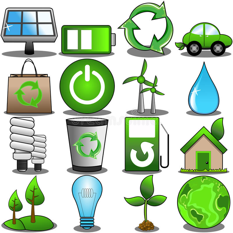 Download Green Environment Icon Set stock vector. Image of electricity - 31687359