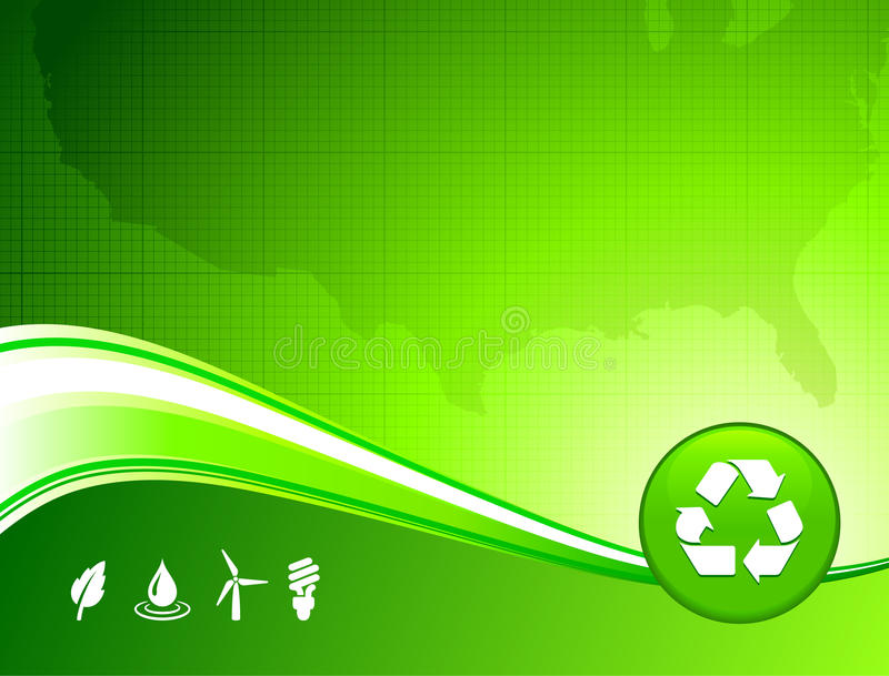Green environment US map background stock illustration