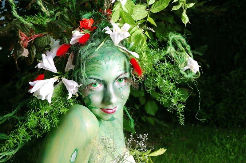 Download Green Environmental Face Painting Royalty Free Stock Photo - Image: 9810055