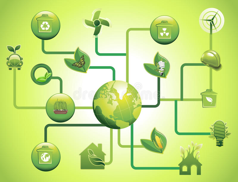 Download Green Environmental Icons And Design Network Stock Images - Image: 23570684