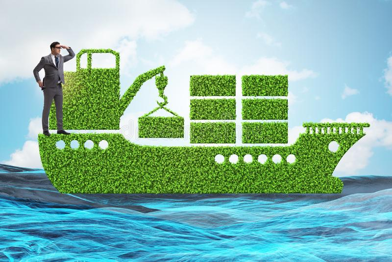 The green environmentally friendly vehicle concept. Green environmentally friendly vehicle concept royalty free stock photos