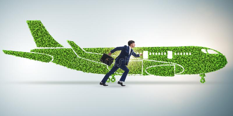 Green environmentally friendly vehicle concept. The green environmentally friendly vehicle concept royalty free stock image
