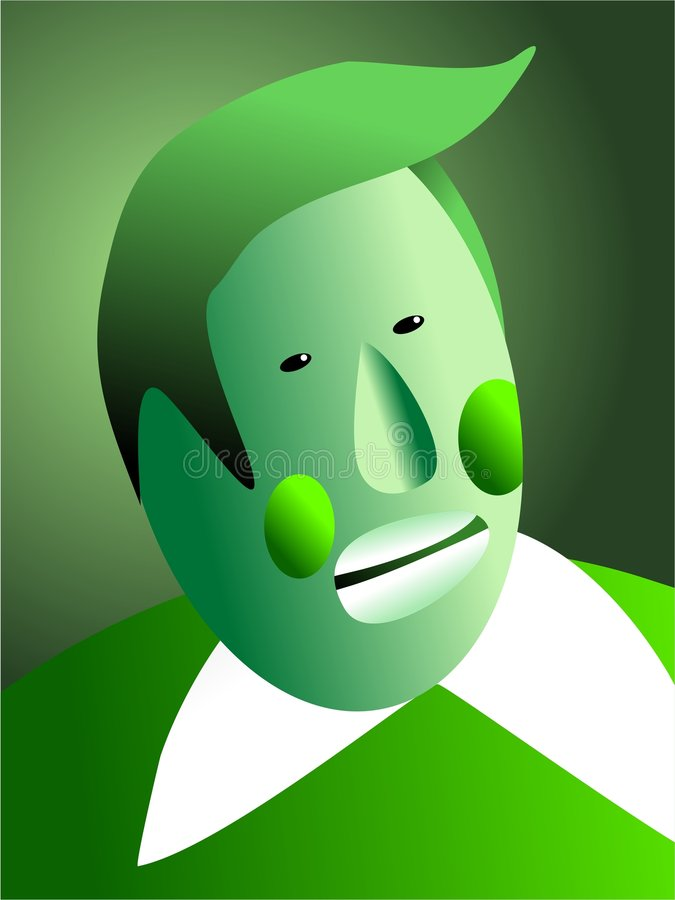 Green with envy stock illustration