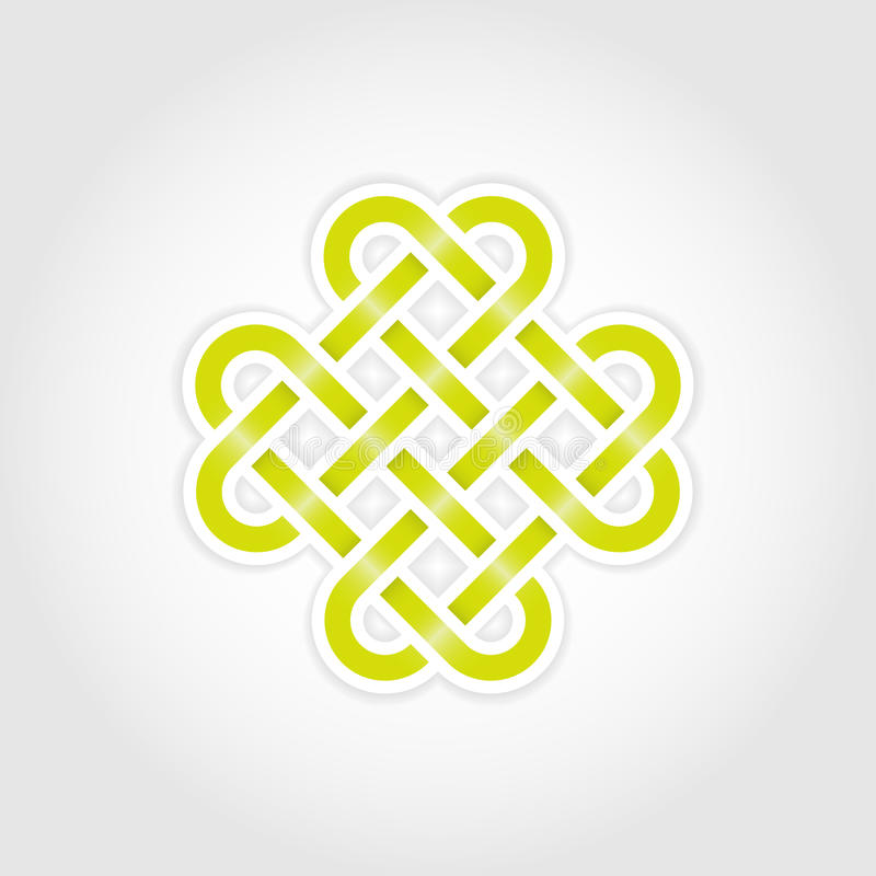 Download Green Eternal Knot Royalty Free Stock Photos - Image: 26237018