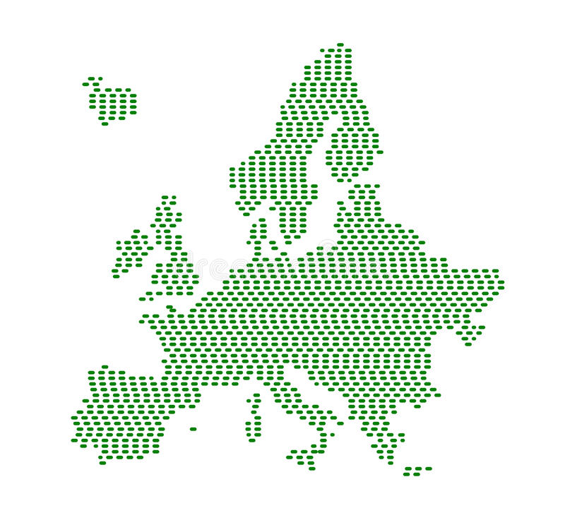 Green Europe silhouette. royalty free illustration