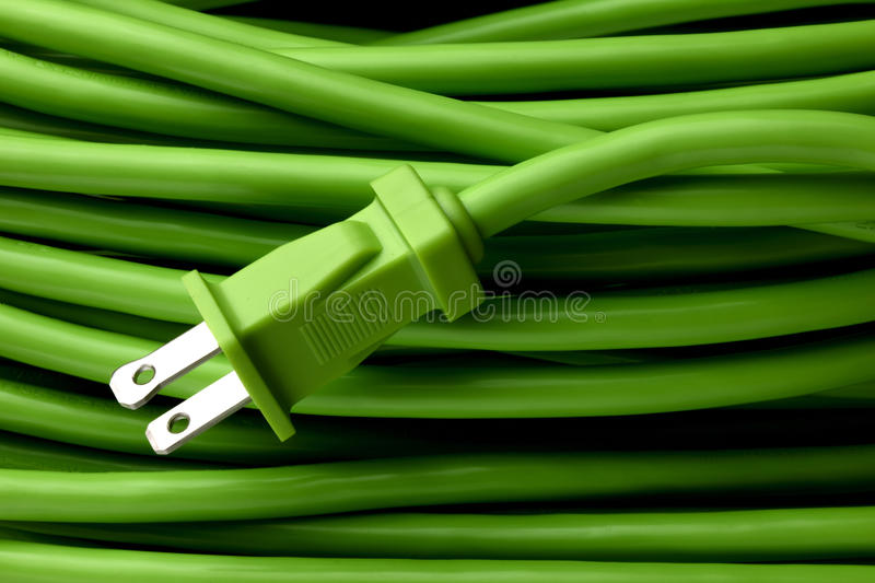 Download Green extension cord stock image. Image of wire, close - 10953827