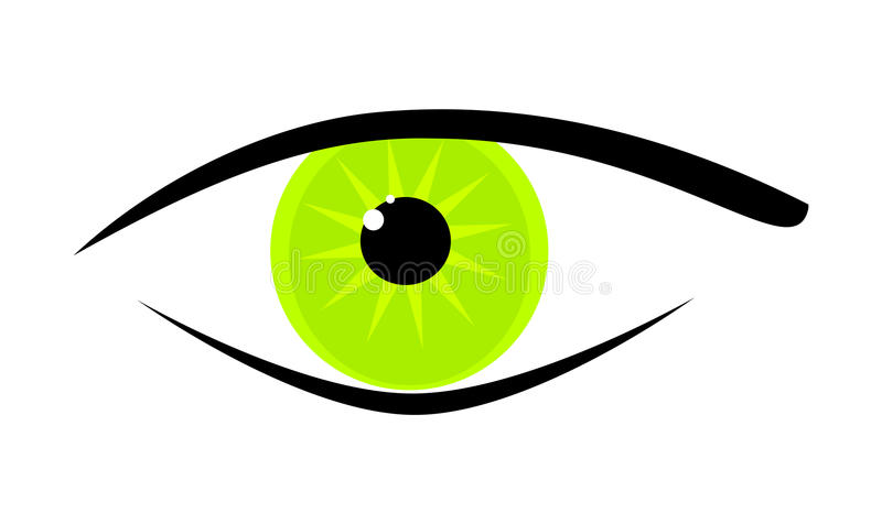 Download Green eye stock vector. Image of bright, look, illustrations - 15916764