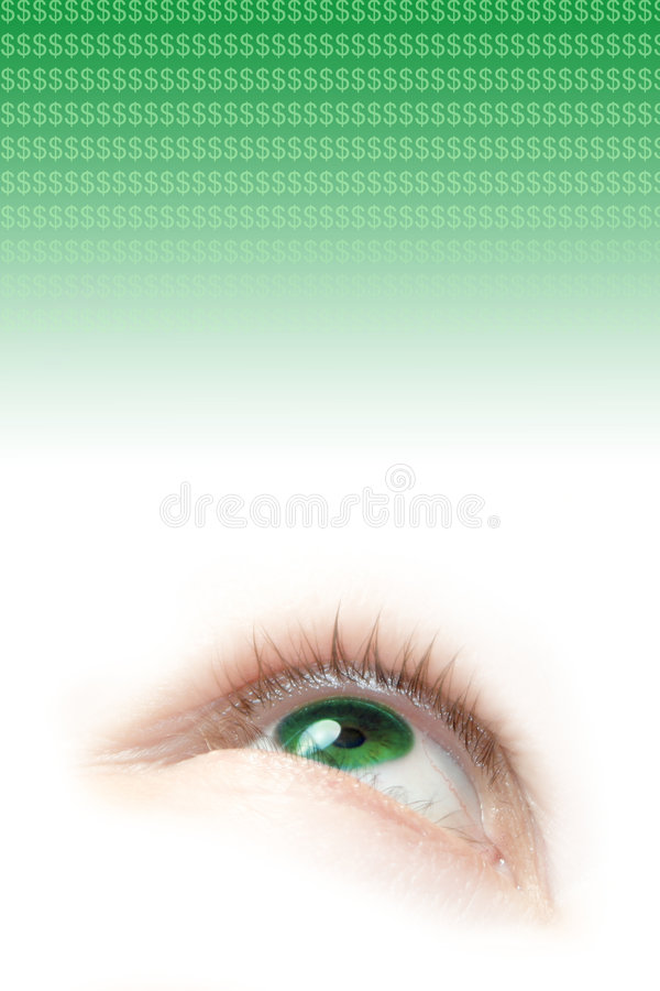Download Green  eye stock photo. Image of green, looking, copyspace - 1594666