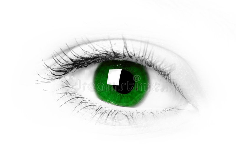 Green eye royalty free stock images