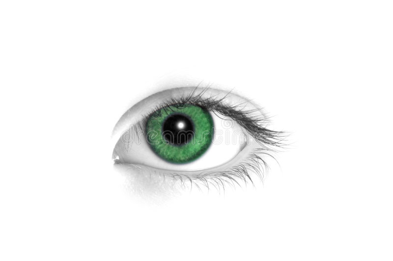 Download Green eye stock photo. Image of black, eyes, isolated, body - 464708