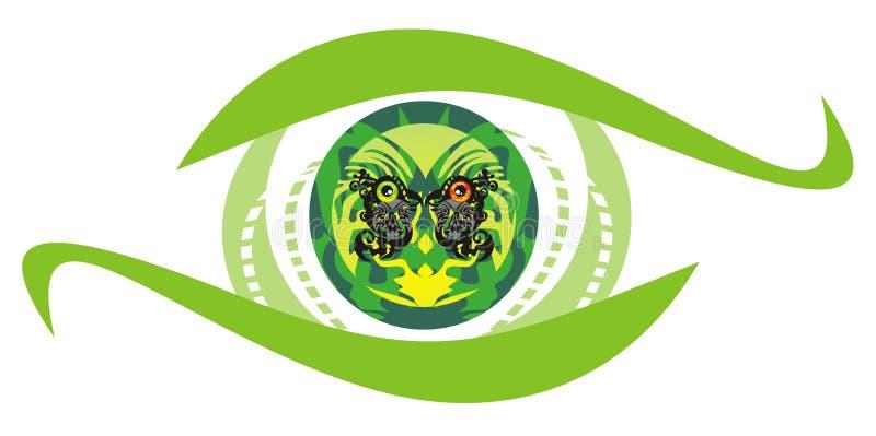 Green eye symbol