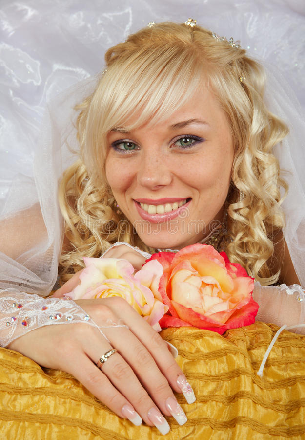 Download Green-eyed bride stock image. Image of happiness, make - 11245843