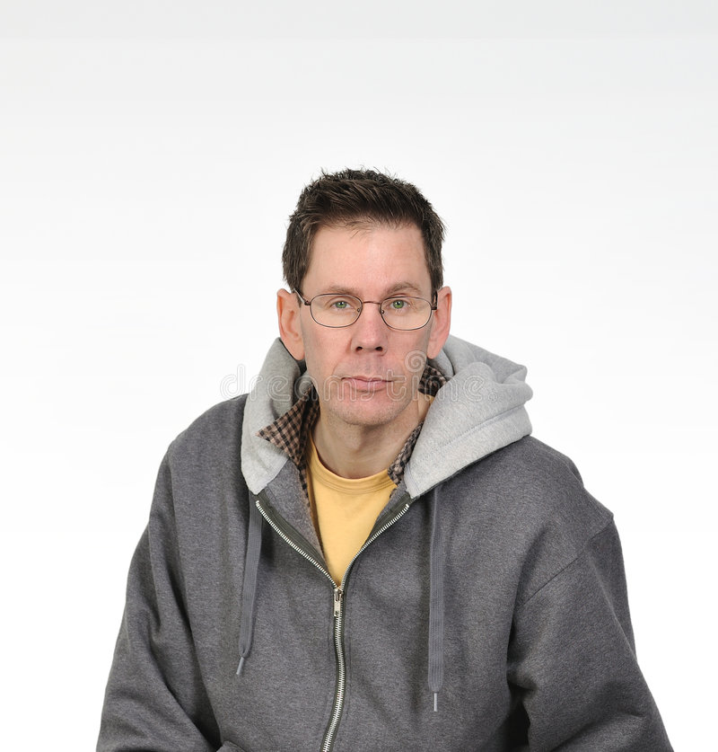 Green Eyed Man With Glasses stock photo