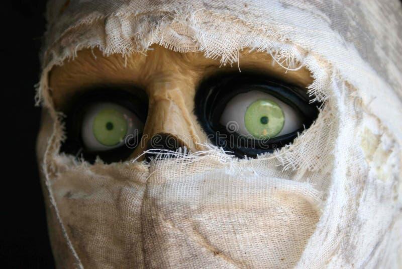 Green-eyed mummy royalty free stock images