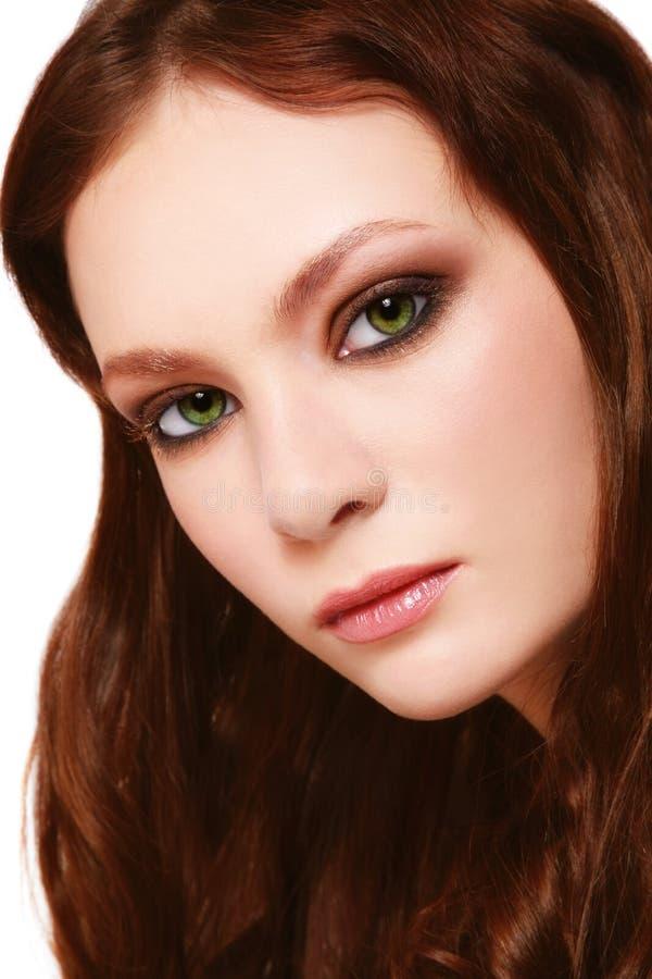 Green-eyed Schönheit stockfotos