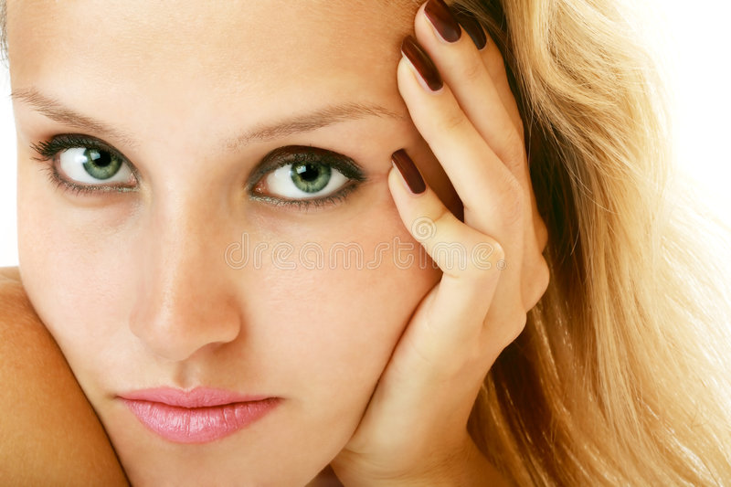 Green eyes royalty free stock images