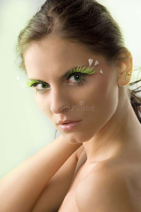 Green eyes stock photography