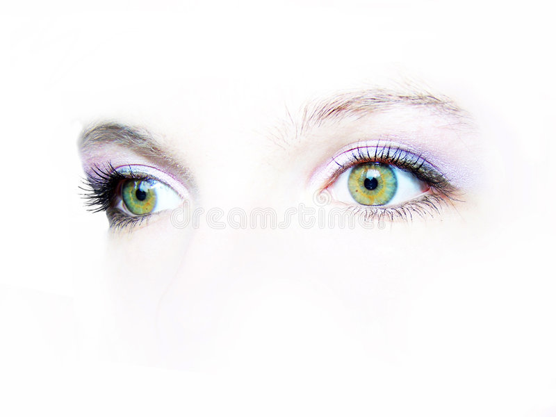 Green eyes stock images