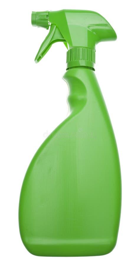 green för flaskcleaning fotografering för bildbyråer