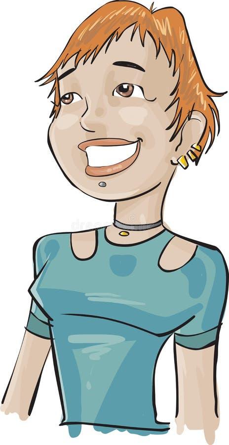 green för flicka för felanmälansmitt stock illustrationer