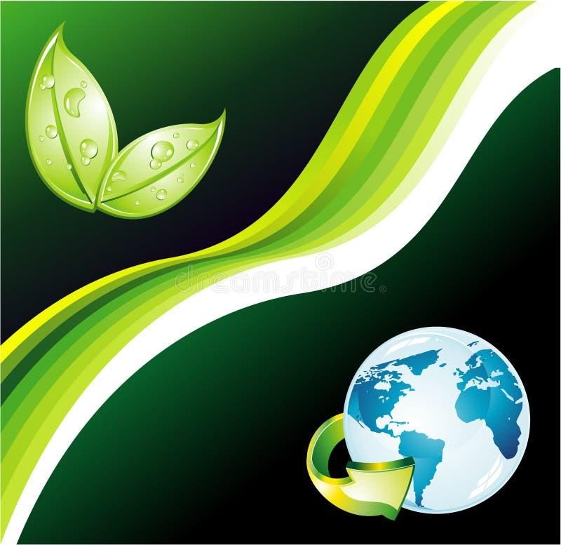 green för reklamblad för bakgrundsecomiljö stock illustrationer