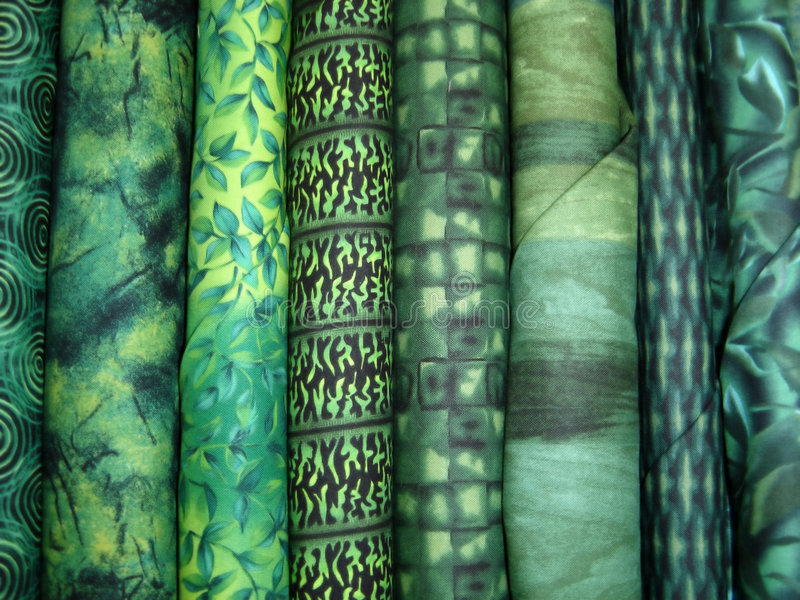 Download Green Fabric Bolts Royalty Free Stock Images - Image: 1738359