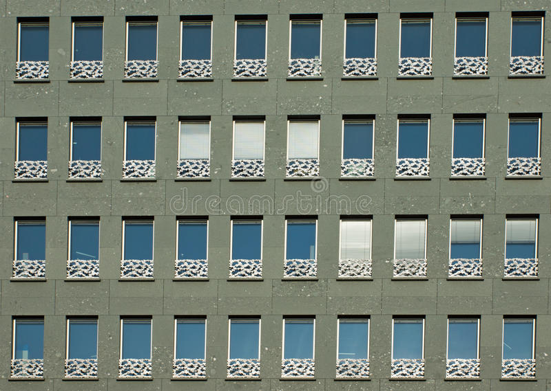 Download Green facade of a building stock photo. Image of green - 24403204