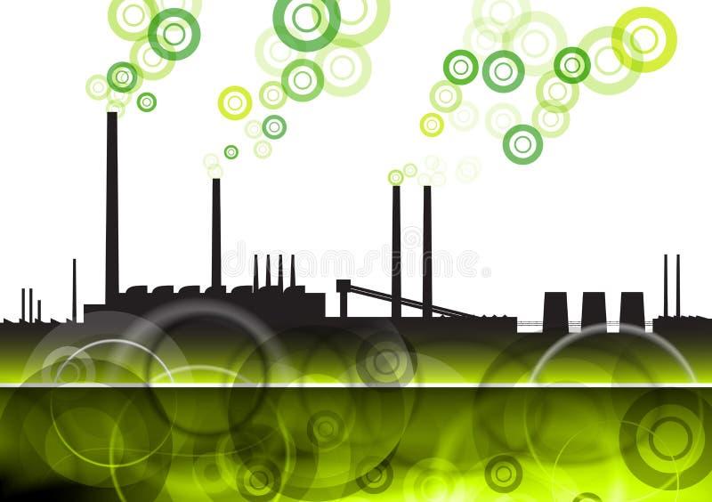Green factory stock illustration