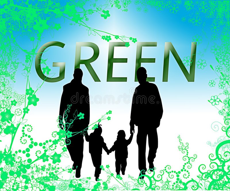 Download Green family environment stock illustration. Illustration of illustration - 3977811