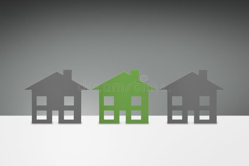 Green family House royalty free illustration