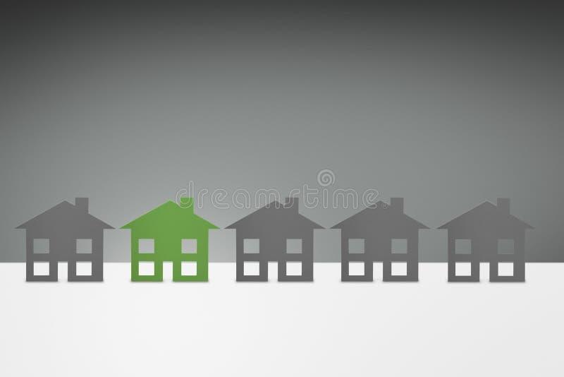 Green family House vector illustration