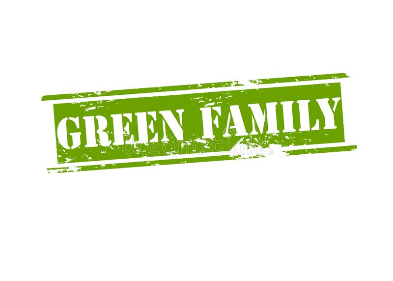 Green family. Rubber stamp with text green family inside, illustration stock illustration