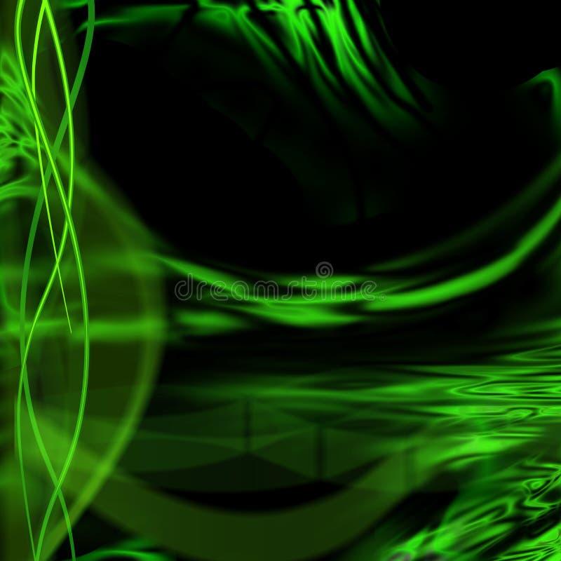 Green fantasy bright background stock illustration