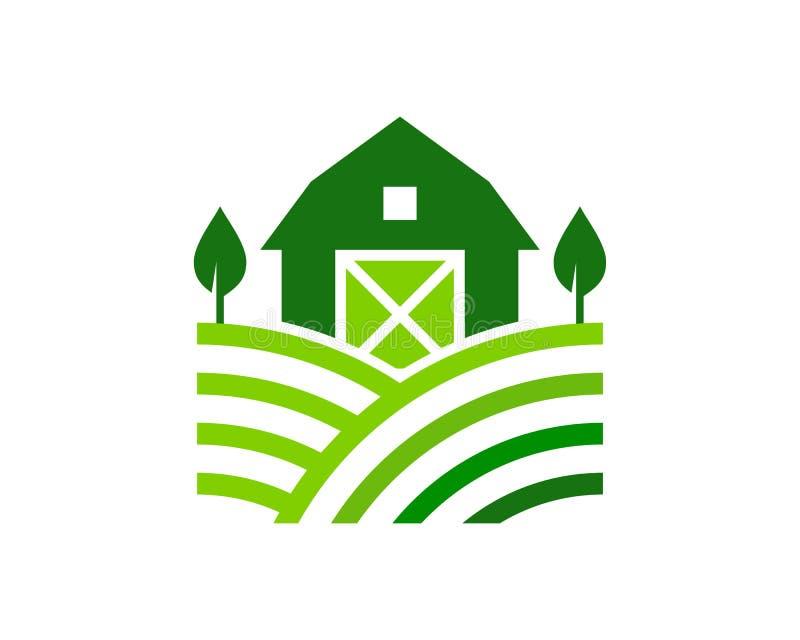 Green Farm Logo Icon Design royalty free illustration