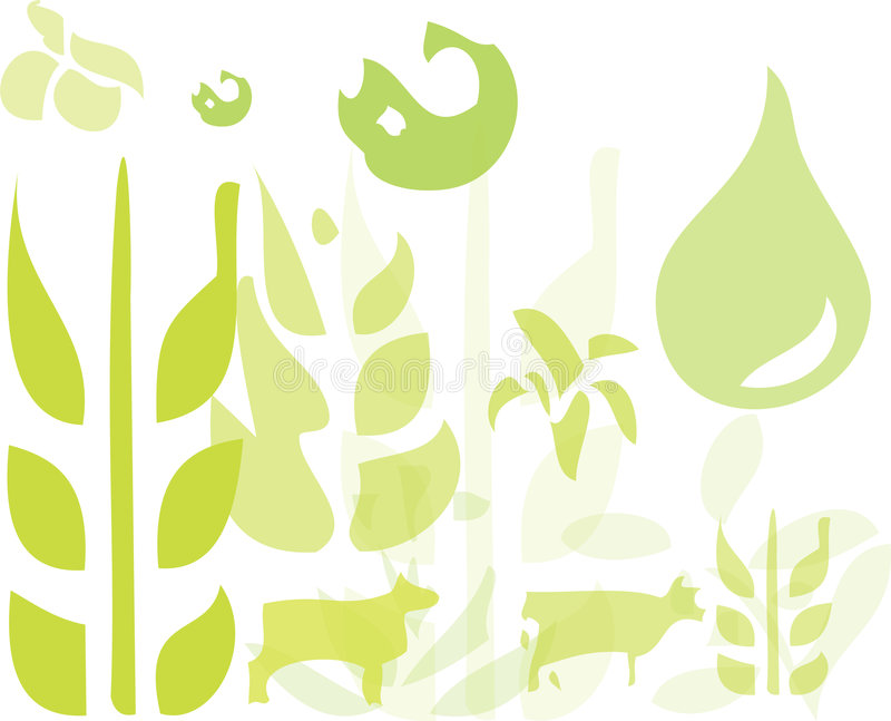 Download Green Farming stock vector. Image of fishing, grown, wheat - 6394489