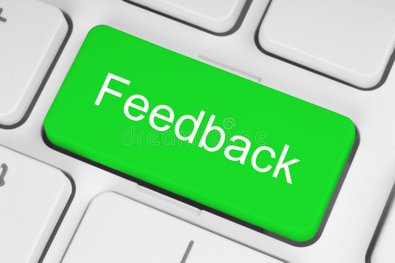 Green feedback button royalty free stock photography