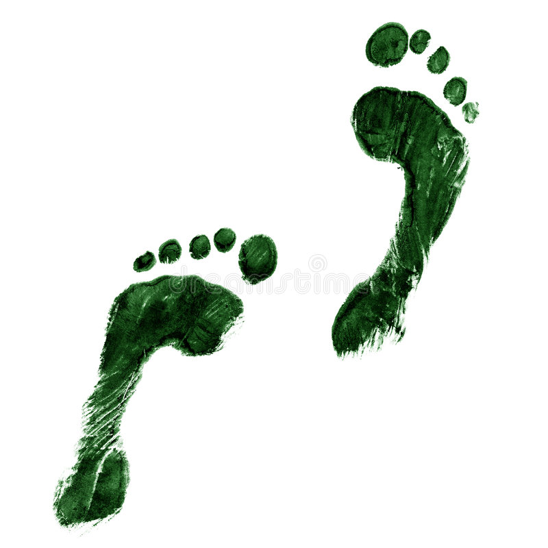 Green feet stock image